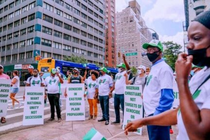Photos Of President Buhari Supporters In New York