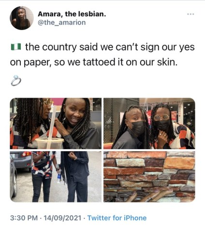 Popular Nigerian Lesbians Is Married