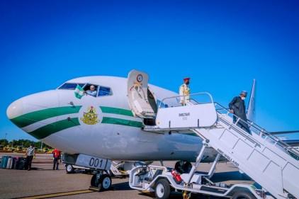 President Buhari Arrives New York Ahead Of 76th UN Summit