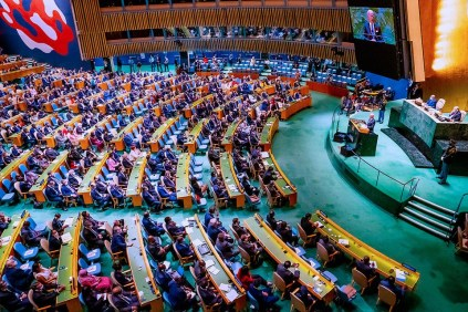 President Buhari At The Opening Session Of 76th UN General Assembly