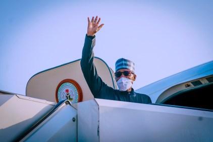 President Buhari Leaves Abuja For New York