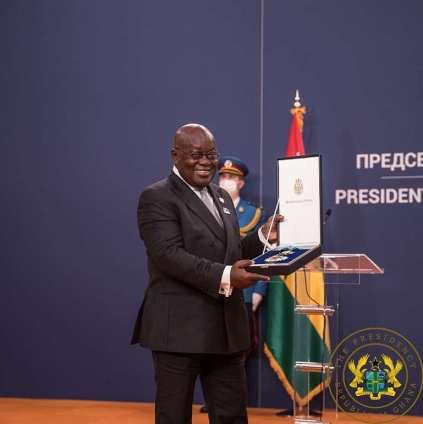 Ghanaian President, Akufo-Addo Receives Serbia's Highest National Award