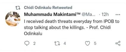 I Receive Death Threats From IPOB Everyday - Chidi Odinkalu