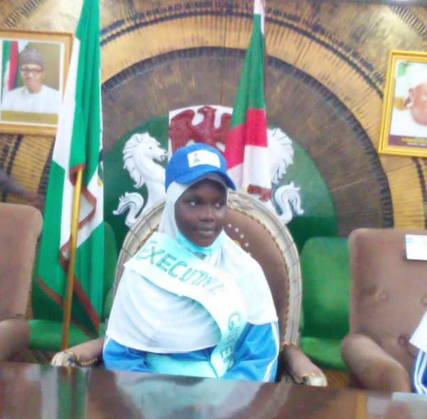 See Photo Of The 14-Year-Old Lucky Girl Who Became Kano Governor For 20 Minutes