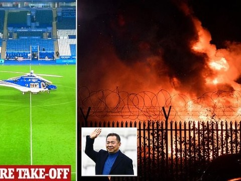 Photos From The Crash Scene Where Leicester City Owner's Helicopter Crashed Outside