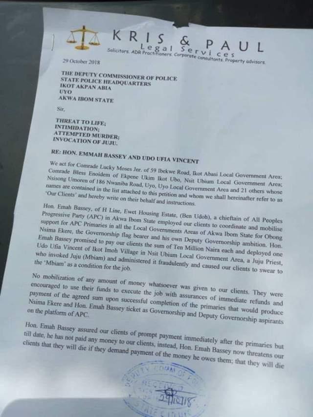 Former Reps Member Accused Of Administering Juju on APC Members