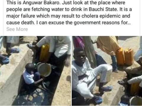 Horrible Place Where Residents Of A Bauchi Community Fetch Drinking Water