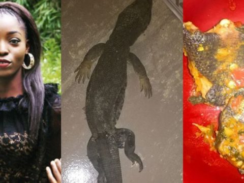Lady Who Couldn't Afford Chicken, Cooks And Eats Lizard