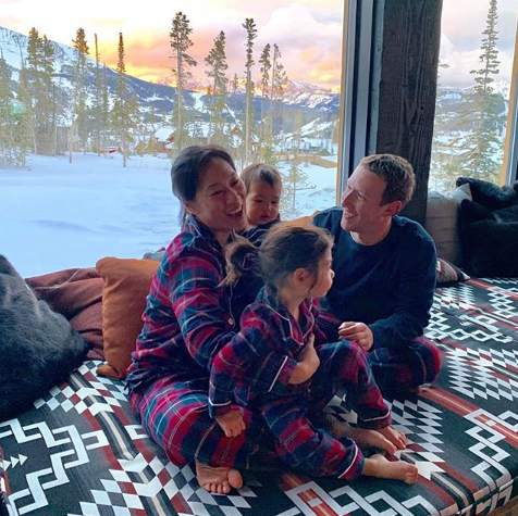 Mark Zuckerberg Shares His Entire Family Matching Pajamas In Cute Thanksgiving Photo