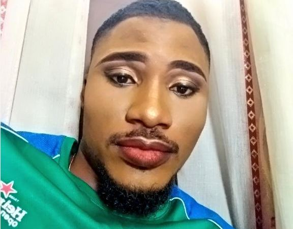 Nigerian Man Believe To Be Gay Shares Make-Up Photos