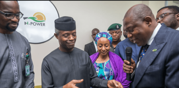 Osinbajo: N-Power To Become Africa's Largest Post-Tertiary Job Scheme