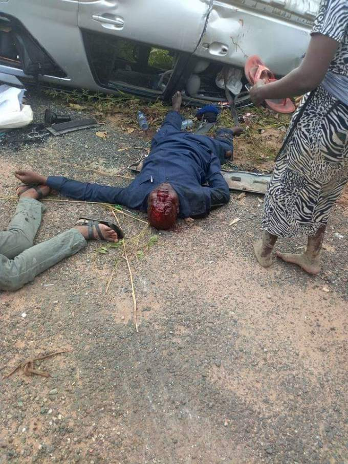 Photos From The Accident That Killed Cross River APC Chairman