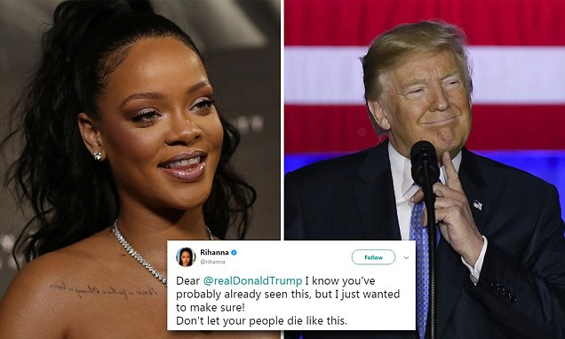 Rihanna Goes Against President Trump