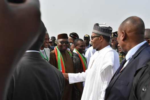 Buhari Lands In Akwa Ibom For His Campaign