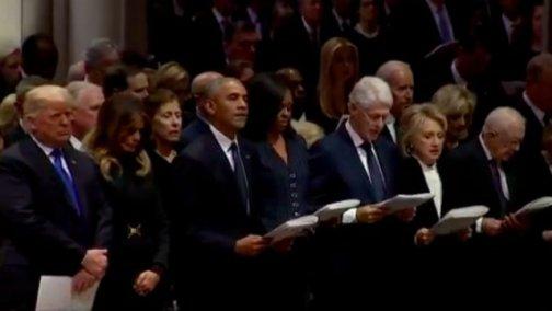 Bush Funeral - Trump Refused To Recite 'The Apostle Creed'