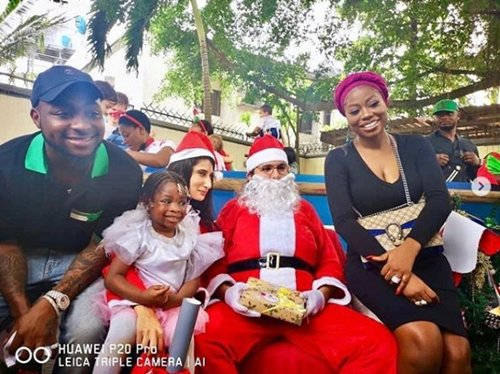 Davido, His Baby-mama, Sophia Attend Daughter's School Christmas Concert