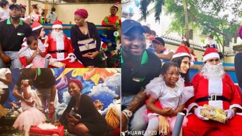 Davido, His Baby-mama, Sophia Attend Daughter's School Christmas Concert