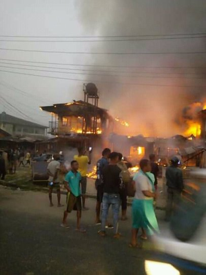 Fire Razes Houses In Delta Community