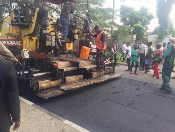 Gov. Ben Ayade Of Cross River Inspecting Ongoing Road Maintenance In Calabar
