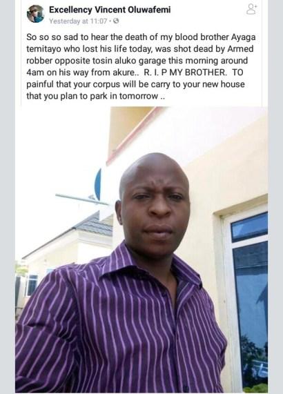 Gunmen Shot Man Dead In Ekiti State