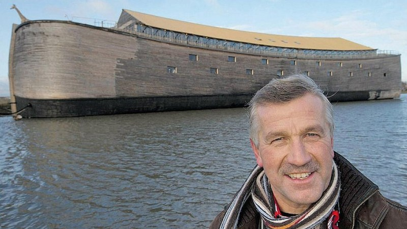 Man Builds A Replica Of The Biblical Noah's Ark, Sets To Sail To Israel