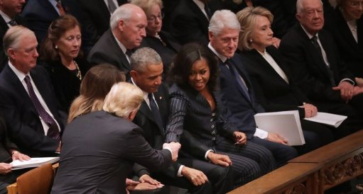 Trumps Met The Obamas And Clintons At George H.W. Bush's Funeral
