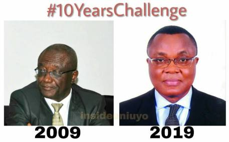#10YearsChallenge Vice Chancellors Of The University Of Uyo