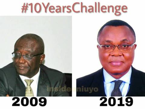 #10YearsChallenge Vice Chancellors Of The University Of Uyo
