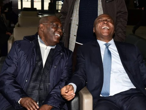 Caption This Photo Of Atiku Abubakar And Bukola Saraki In The United States