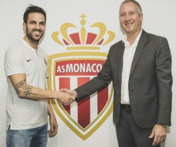 Cesc Fabregas Completes Switch To Monaco, To Wear Jersey 44
