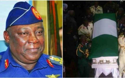 Former Chief Of Defence Staff, Alex Badeh Buried Burial Photos
