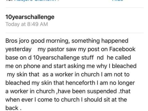 Lady Lands In Trouble With Her Church Pastor Over #10YearsChallenge