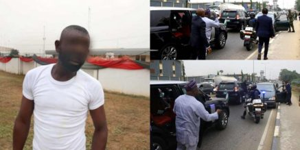 Lagos Governor, Ambode Arrests Soldier, One Other For Driving Against Traffic