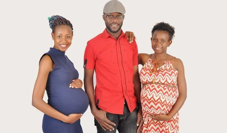 Man Shares Photo Of His Two Heavily Pregnant Wives
