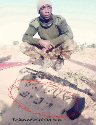 Nigerian Soldier Reveals Love For His Wife With Bullets