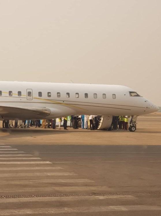 Photos As Atiku Returns To Nigeria After Two-day U.S. Trip