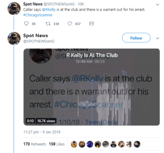 R. Kelly Involve In incident With Police At A Nightclub During His Birthday Celebration