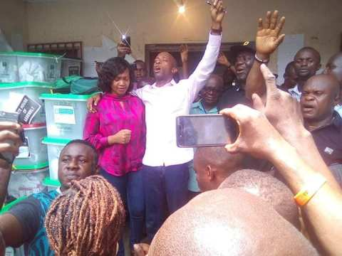 Akwa Ibom Speaker, Onofiok Luke Wins House Of Representatives Seat, Celebrate With Wife