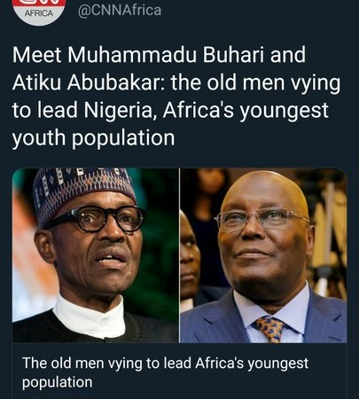 CNN Addresses Buhari And Atiku As 'Old Men' Presidential Candidates
