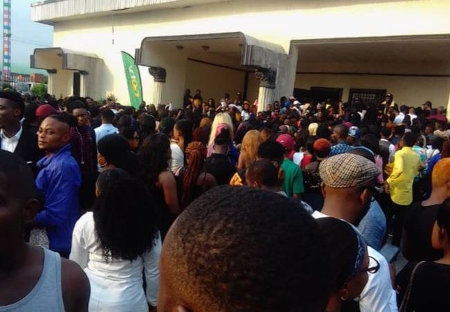Crowd Storms Port-Harcourt Audition Center For BBNaija 2019
