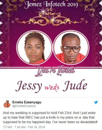 Nigerians Reveal How Elections Postponement Affected Their Wedding Plans, Business