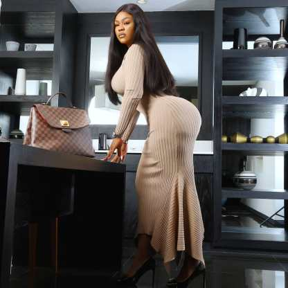 Nollywood Actress Daniella Okeke Flaunts Her Killer Backside In New Photos