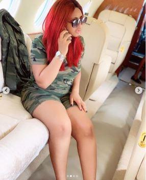 Nollywood Star, Regina Daniels Shows Off In A Private Jet