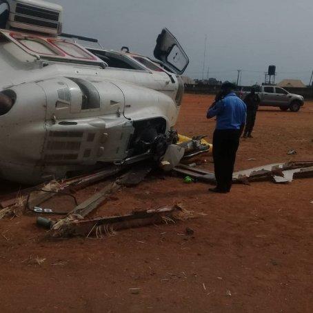 Photos From Chopper Crash That Nearly Killed VP Osinbajo