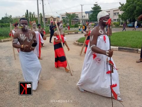 100L Students Inducted Into Theatre Arts Department In UNIZIK In An Unusual Way