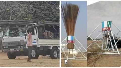 APC Pulls Down Giant Broom