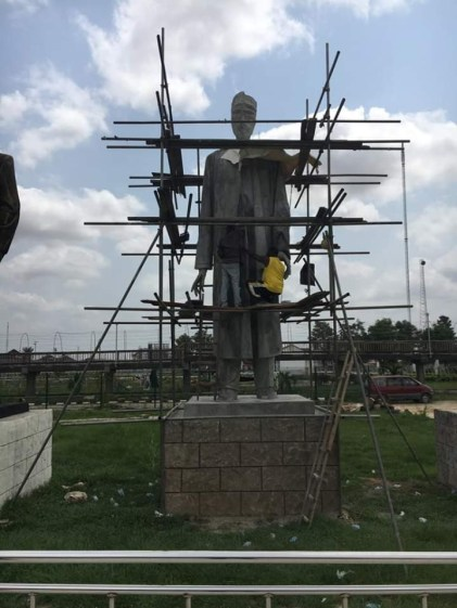 BBC Igbo Service React To The New Statue Of 'Buhari' Which Is Set To Be Unveiled By Gov Okorocha