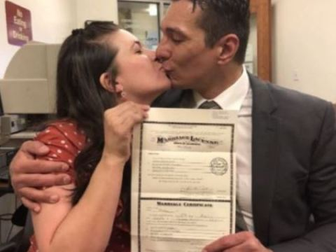 Cousins Marry In America, Shows Off Their Wedding Certificate