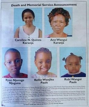 Ethiopian Airlines Plane Crash - Man Announces Dates For Burial Of His Wife, Daughter, Three Grandchildren
