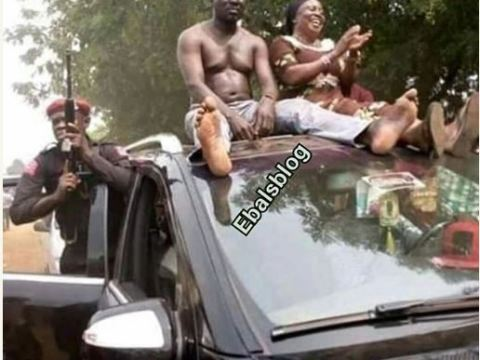 Kogi Lawmaker Goes Shirtless To Celebrate His Electoral Victory